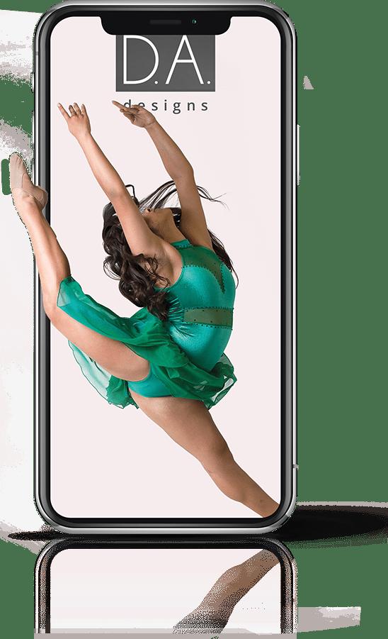Branding Case Study - Mobile Device Mockup for Dance Industry