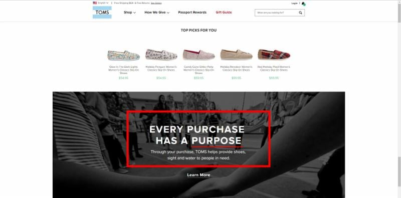 Toms Shoes Values - Butler Branding - Writing Good Copy