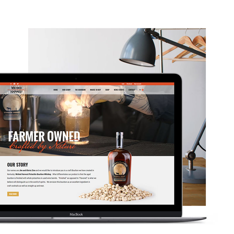 Butler Branding Web Design Wicked Harvest