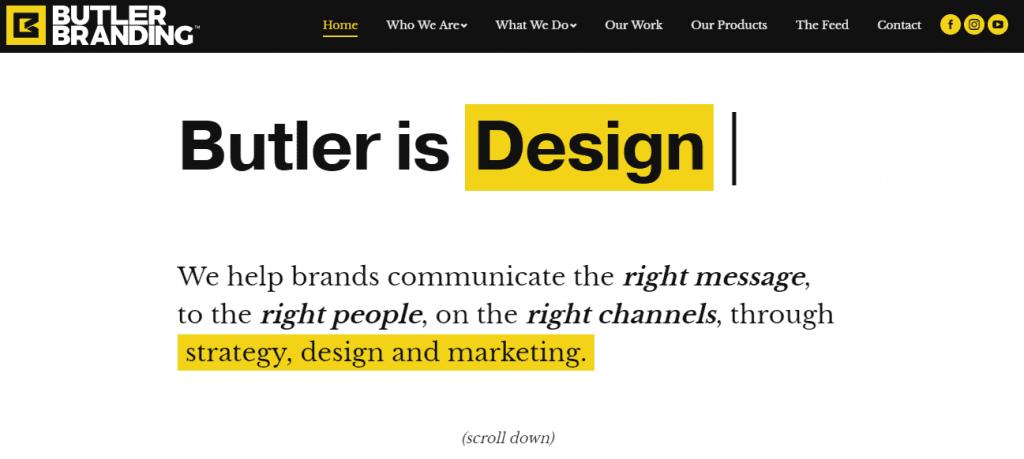 Butler Branding Web Design Fresno