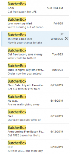 ButcherBox Email Subject Lines