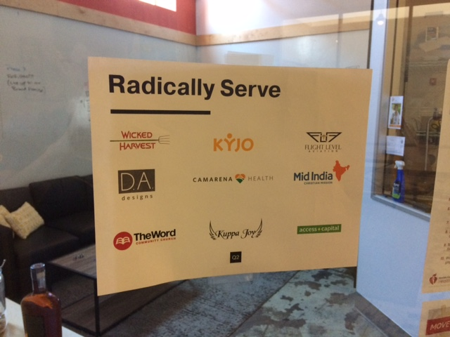 Radically Serve Sign Butler Core Value