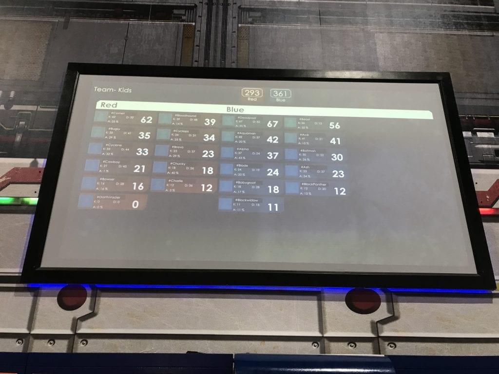 Butler Branding Have Fun Laser Tag Scores