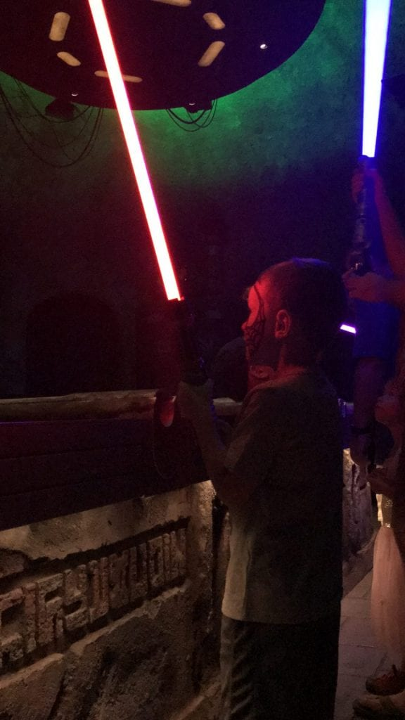 Disneyland Lightsaber Experience