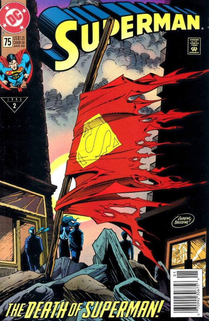 Superman 75 Death of Superman Cover